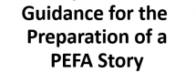 Template and Guidance for the preparation of a PEFA Story