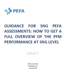 Guidance for SNGs - Full overview of PFMs