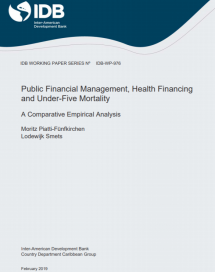 Recent IDB publication on assessing the impact of PFM on health is using PEFA Data as a proxy