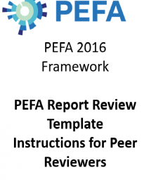 PEFA Review Template: Instructions for Peer Reviewers